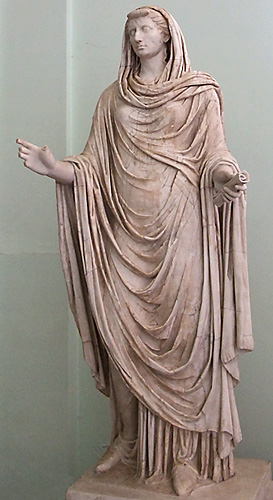 "A ""respectable"" Roman woman with veil"
