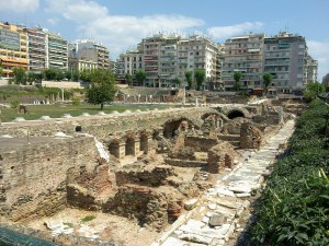 The underground shopping mall of ancient Thessalonica