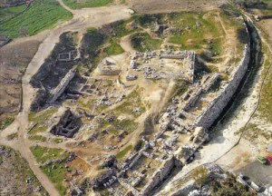Aerial view - the ruins of the Gerizim temple