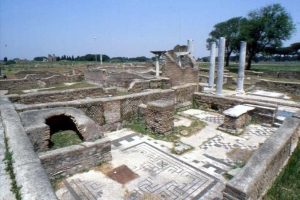 Ruins of the Ostia synagogue, outside the city of Rome