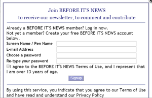 """You want to be an official reporter for """"Before It's News?"""" Easy!"""