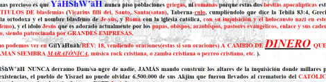 Spanish rant on Jesus