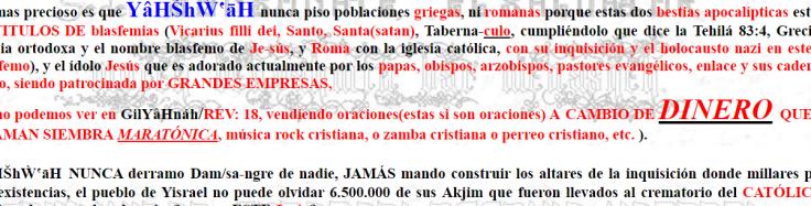 Spanish rant on Jesus